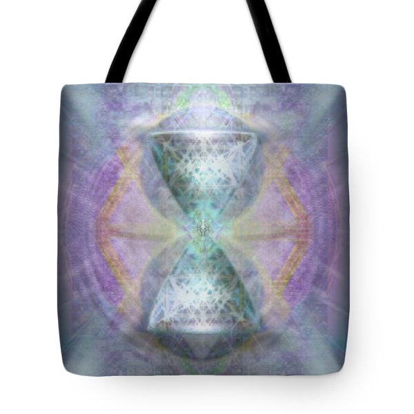 Synthesphered Grail On Caducus Blazed Tapestrys Tote Bag