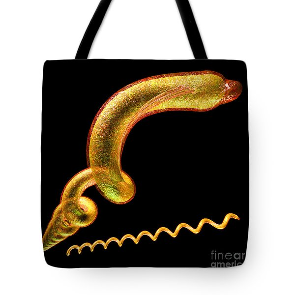 Tote Bag featuring the digital art Syphilis by Russell Kightley
