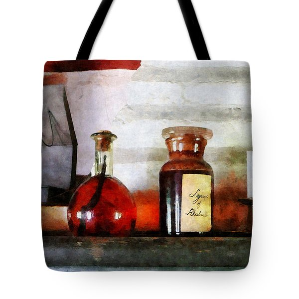 Syrup Of Rhubarb Tote Bag by Susan Savad
