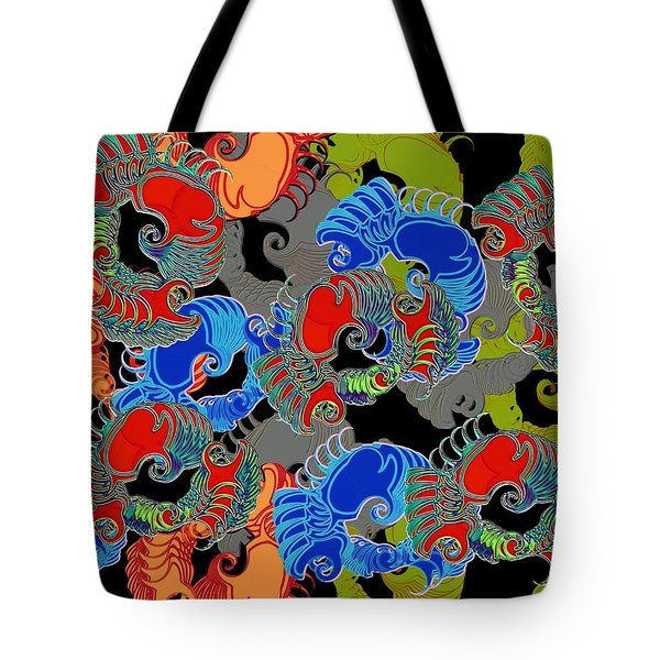 Tainted Shrimp Tote Bag by Alec Drake