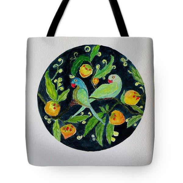 Talkative Parakeets Tote Bag by Sonali Gangane