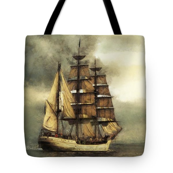 Tall Ship Tote Bag by Marcin and Dawid Witukiewicz