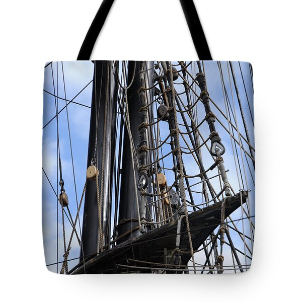Tall Ship Mast Tote Bag