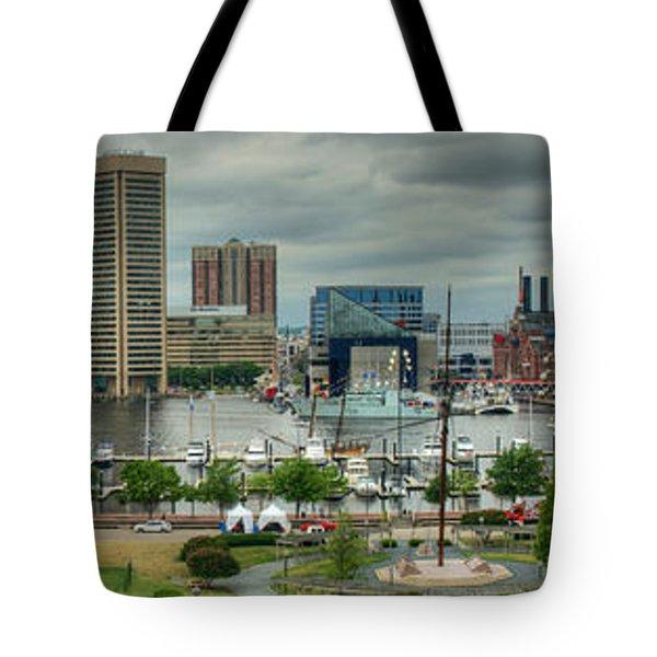 Tall Ships At Baltimore Inner Harbor Tote Bag