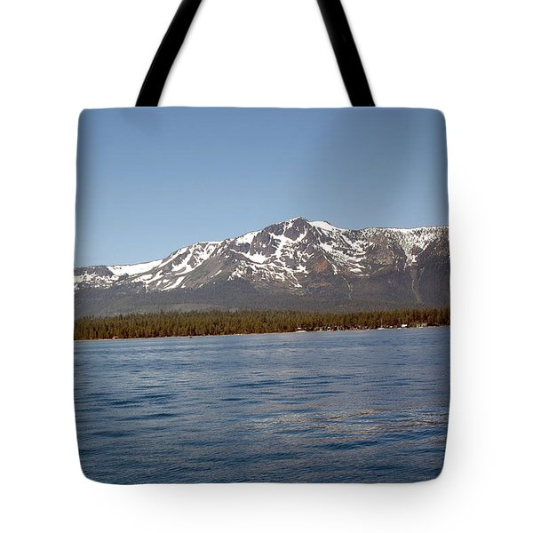 Tallac From The Lake Tote Bag by LeeAnn McLaneGoetz McLaneGoetzStudioLLCcom