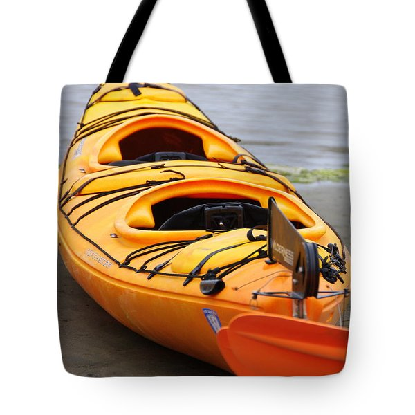 Tandem Yellow Kayak Tote Bag