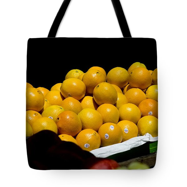 Tangerines For Sale Tote Bag by Tim Mulina