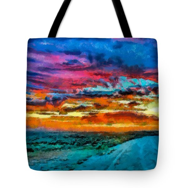 Taos Sunset Iv Wc Tote Bag