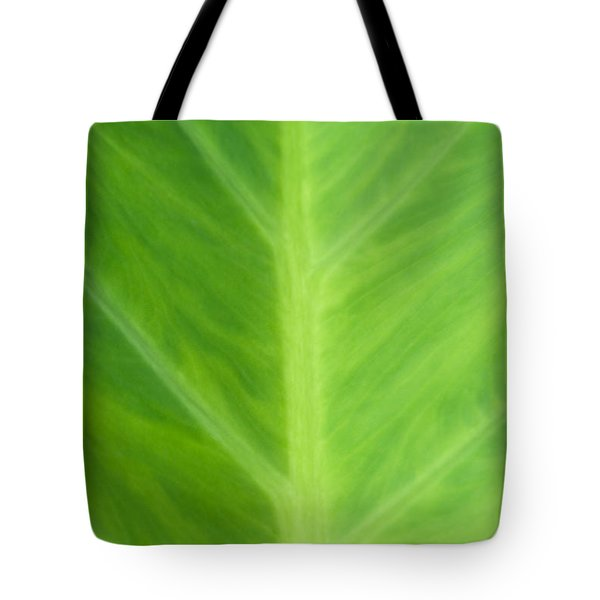 Taro Or Elephant Ear Leaf Tote Bag by Denise Beverly