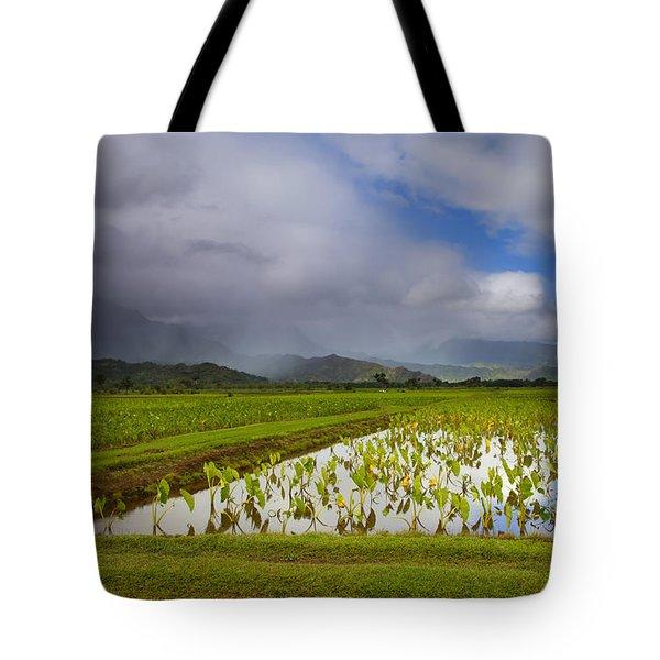 Taro Storm Tote Bag by Mike  Dawson