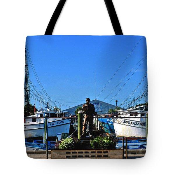 Tarpon Springs Waterfront Tote Bag by Susanne Van Hulst