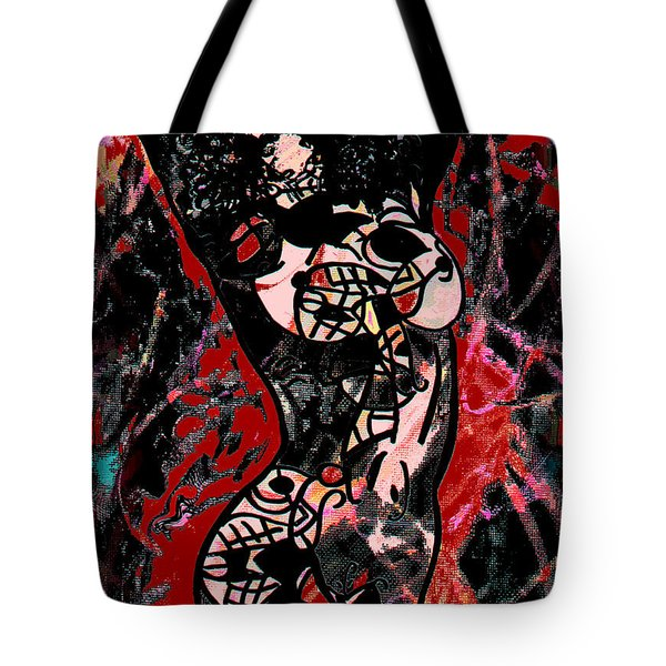 Tattoo Nude Tote Bag by Natalie Holland
