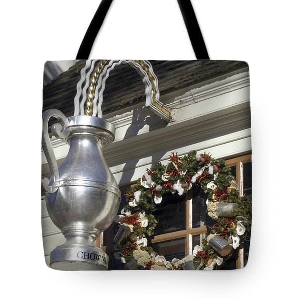 Tavern Tankard Sign Tote Bag by Sally Weigand