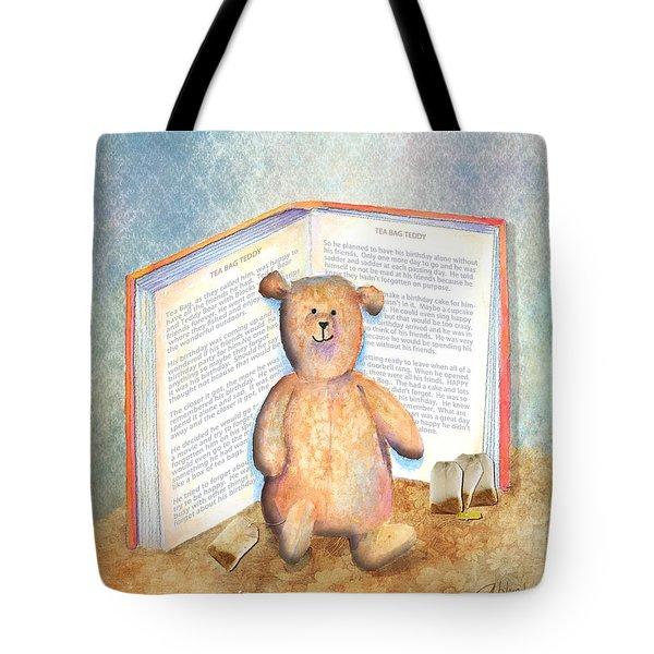Tea Bag Teddy Tote Bag by Arline Wagner