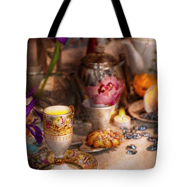 Tea Party - The Magic Of A Tea Party  Tote Bag by Mike Savad