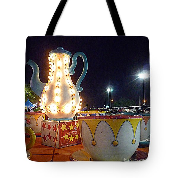 Tote Bag featuring the photograph Tea Pot And Cups Ride by Renee Trenholm