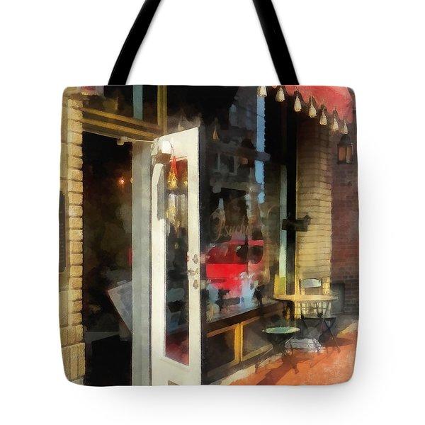 Tea Room In Sono Norwalk Ct Tote Bag by Susan Savad