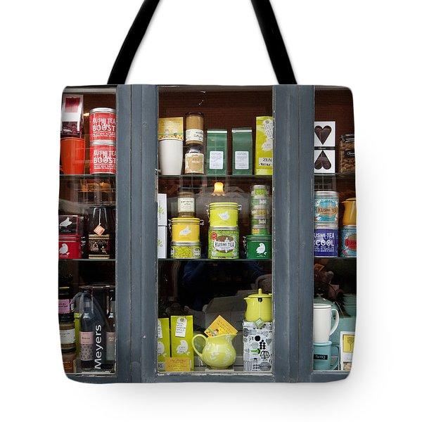 Tea Shop Tote Bag by Robert Lacy