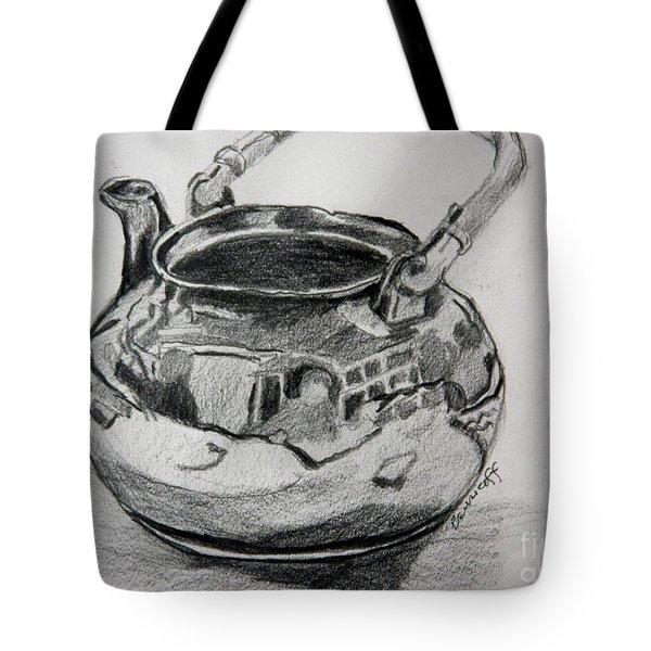 Teapot Reflections Tote Bag