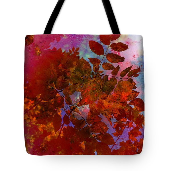 Tears Of Leaf  Tote Bag by Jerry Cordeiro