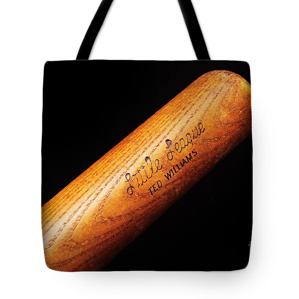 Ted Williams Little League Baseball Bat Tote Bag by Andee Design