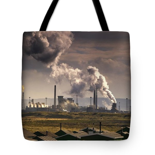 Teesside Refinery, England Tote Bag by John Short