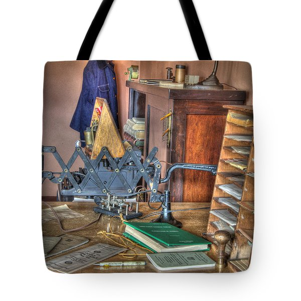 Telegraph Office At Kelso Tote Bag by Bob Christopher