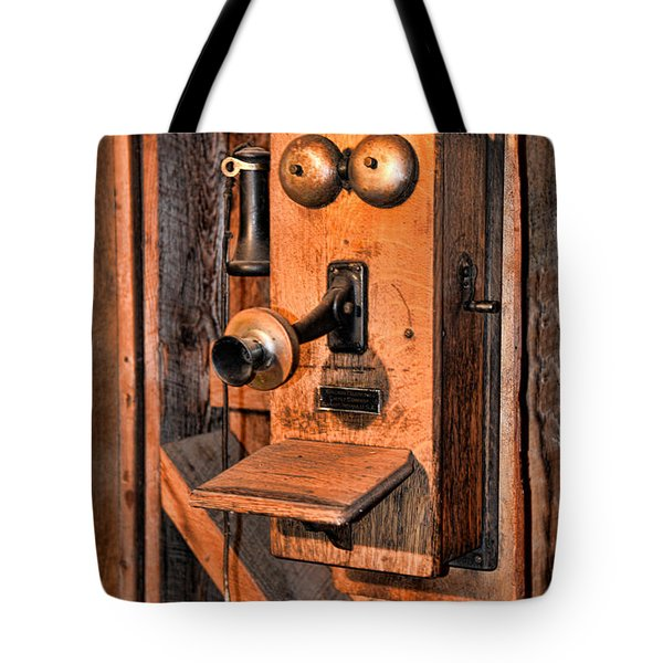 Telephone - Antique Hand Cranked Phone Tote Bag by Paul Ward