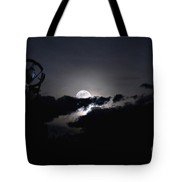 Telescope Pointed Out To The Night Sky Tote Bag by Roth Ritter