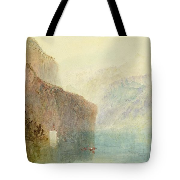 Tell's Chapel - Lake Lucerne Tote Bag by Joseph Mallord William Turner