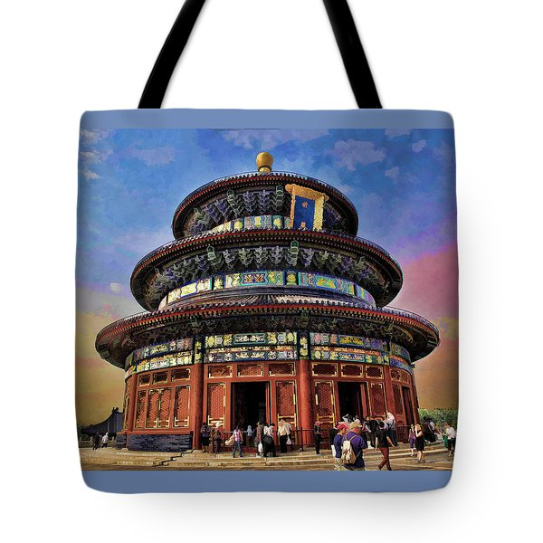 Temple Of Heaven - Beijing China Tote Bag