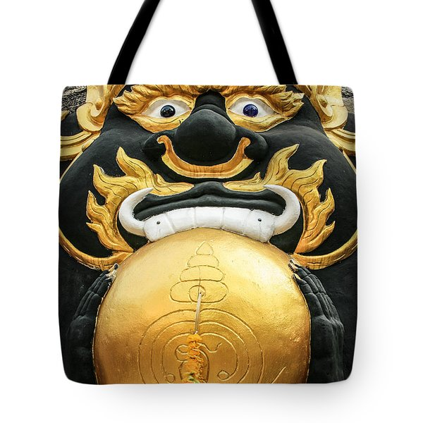 Temple Statue Tote Bag by Adrian Evans
