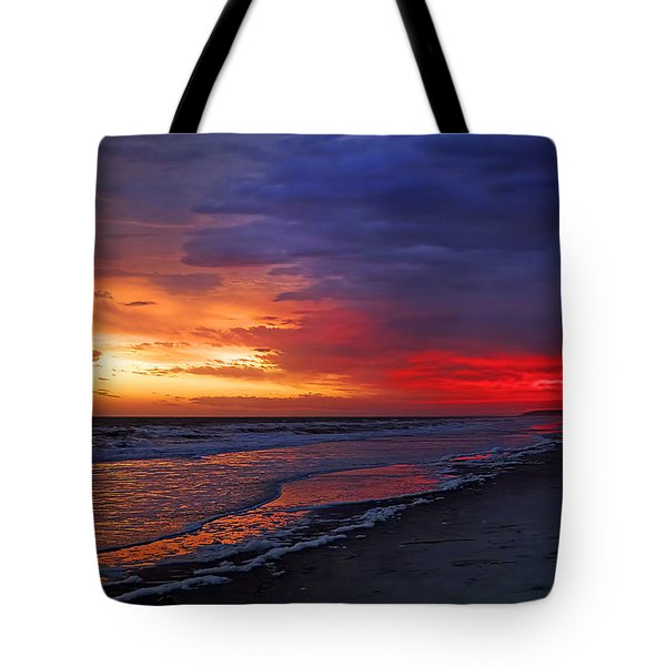 Ten Minutes On The Beach  Tote Bag by Phill Doherty