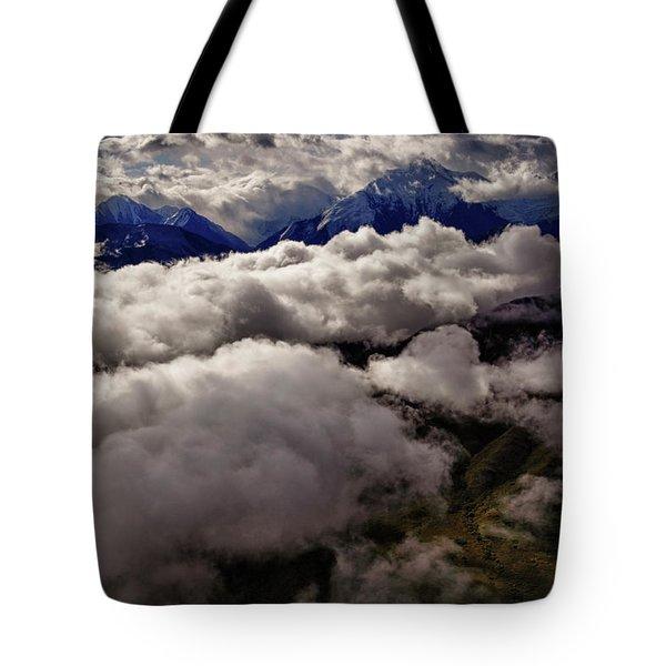 Ten Thousand Feet Over Denali Tote Bag