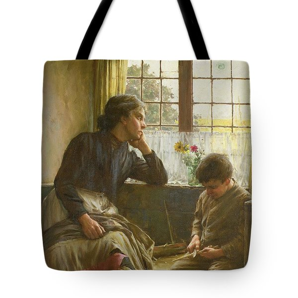 Tender Grace Of A Day That Is Dead Tote Bag by Walter Langley