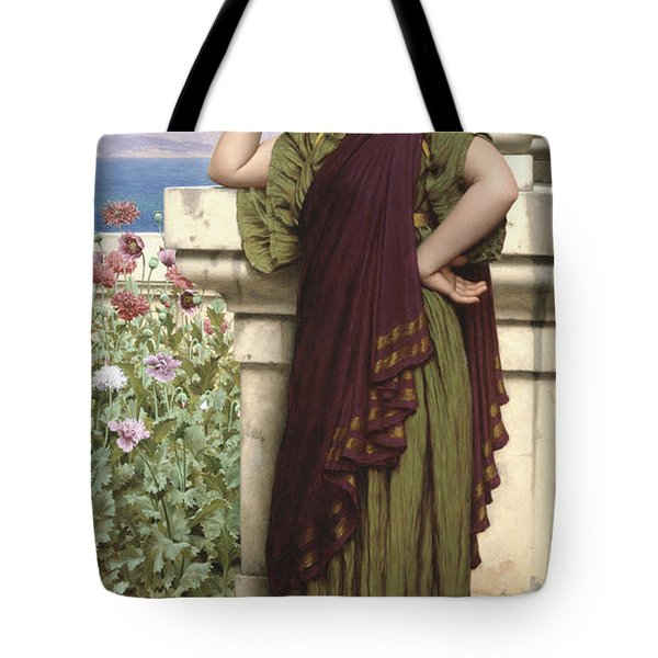 Tender Thoughts Tote Bag by John William Godward