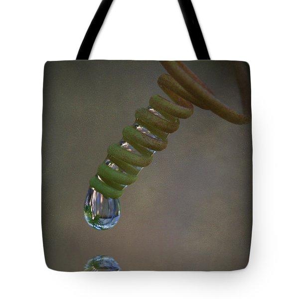 Tendril Droplet  Tote Bag by Kym Clarke