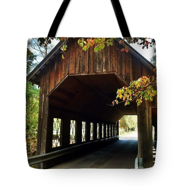 Tennesse Covered Bridge Tote Bag by Janice Spivey