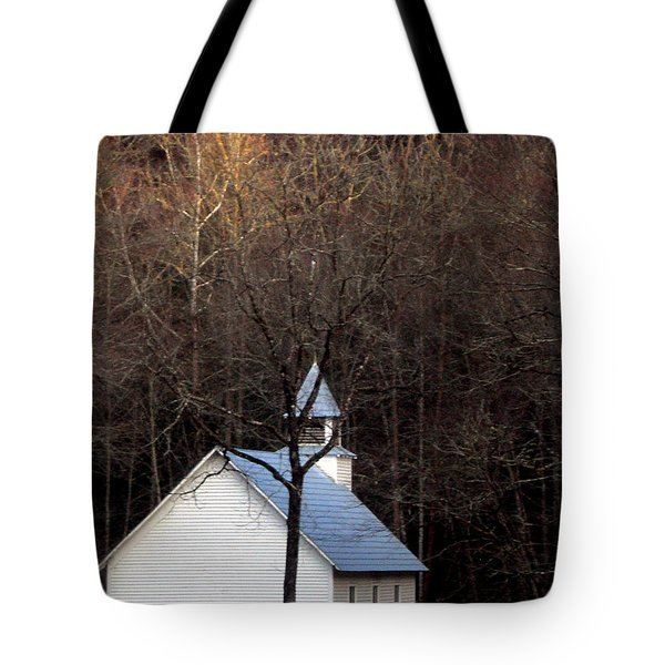 Tennessee Mountain Church Tote Bag by Skip Willits