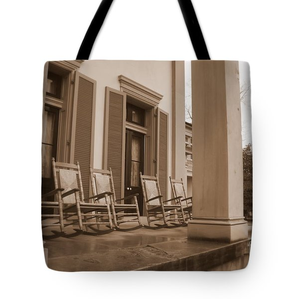 Tennessee Plantation Porch Tote Bag by Carol Groenen