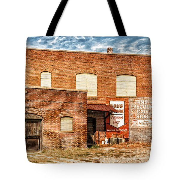Tote Bag featuring the photograph Terminal Drug Store by Jim Moore