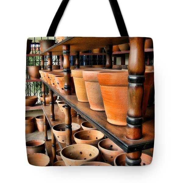 Terracotta Ranks Tote Bag