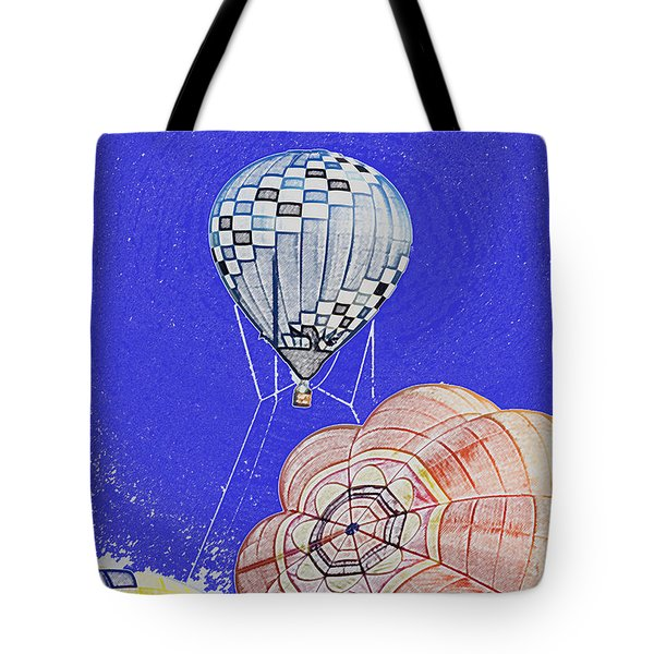 Tethered Hot Air Balloon Tote Bag by Thomas Woolworth