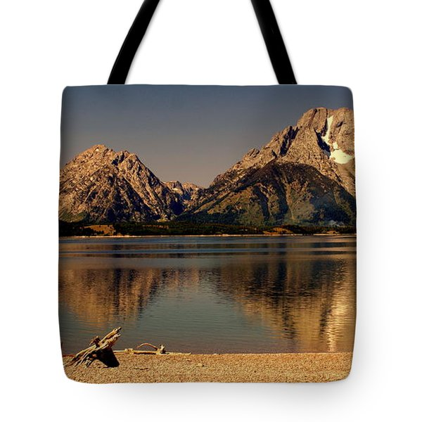Tote Bag featuring the photograph Teton Panoramic by Marty Koch