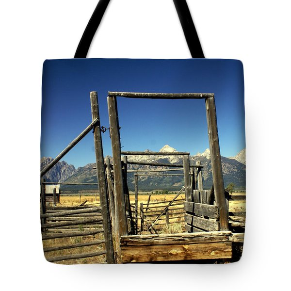 Tote Bag featuring the photograph Teton Ranch by Marty Koch