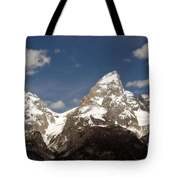 Teton Tips Tote Bag by Living Color Photography Lorraine Lynch
