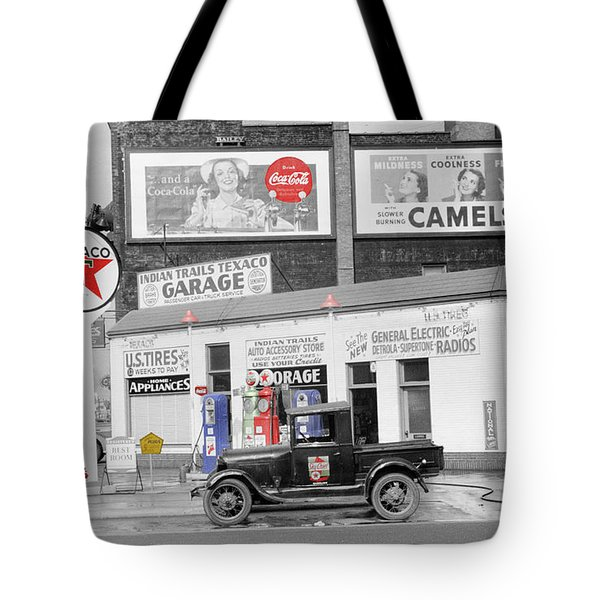 Texaco Station Tote Bag by Andrew Fare