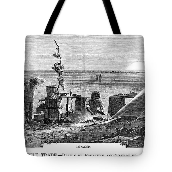 Texas Cattle Trade, 1874 Tote Bag by Granger