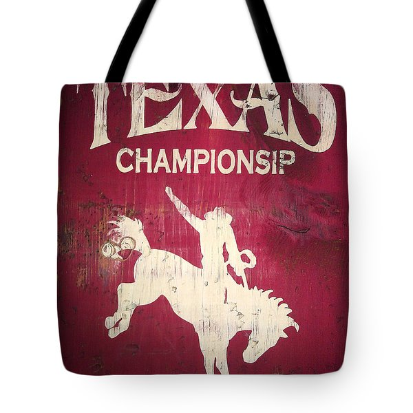 Texas Championsip Tote Bag by Eena Bo