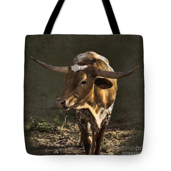Texas Longhorn # 4 Tote Bag by Betty LaRue